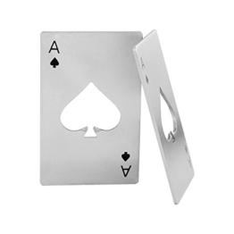 Diawell 2X Flaschenöffner Kapselheber Edelstahl Flaschen Öffner Spielkarte Ass Poker Bier Soda - 1