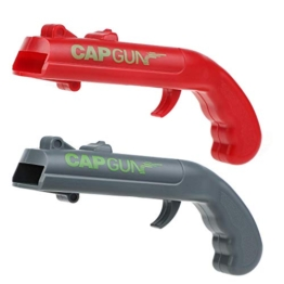 Ubitree Capgun Flaschenöffner Pistole 2 Stück Bierflaschenöffner Bieröffner Pistole Cap Gun Kappe Zappa Flaschenöffner schießt über 5 Meter weit - 1
