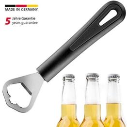Westmark Flaschenöffner, Kronkorkenöffner, Länge: 17 cm, Stahl/Kunststoff, Gentle, Schwarz/Silber, 28082270 - 1